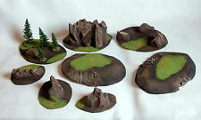 STANDARD BattleField SET 7 pieces Wargame scenery Warhammer W40K 28mm painted