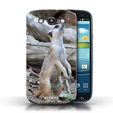 Stuff4 Hülle/Case für Samsung Galaxy S3/SIII/Erdmännchen/Wilde Tiere