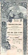 Compania General de Minas y Sondeos SA, accion, Serie A, Barcelona, 1901