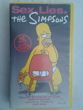 The Simpsons -Sex, Lies &The Simpsons PAL VHS Video Tape1998 Animated PG Working