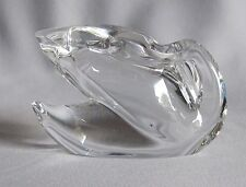 Swan Figurine Paperweight Baccarat Crystal Folded Wings Design Small Flaw