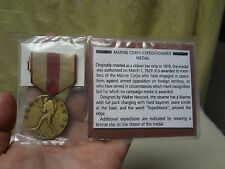 Marine Corp's Expeditionary Medal W/ Ribbon (New in Package) W/ Description