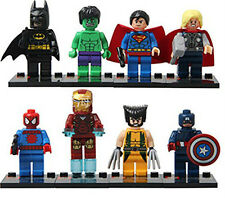 8 X MINI FIGS MARVEL DC SUPER HEROES FITS WITH LEGO THE AVENGERS TOY UK SELLER