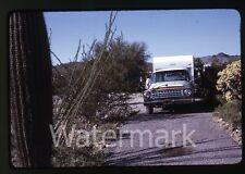 1969 photo slide International Harverster Travelall station wagon car Camper