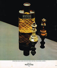 PUBLICITE ADVERTISING 124  1977  ROCHAS   eau de toilette homme MONSIEUR