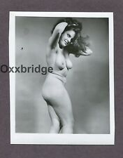 Super Sexy Redhead Big Bouncy Breasts Boobs 1950 ORIGINAL NUDE PINUP PHOTO B3013