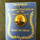 Vintage Commemorative Martin Luther King Pin, Original Backing, Alberta Mint