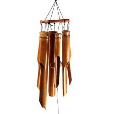 Small Bamboo Wind Chime Brown Feng Shui Spring Summer Garden Gift