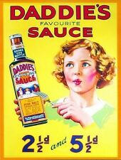 Daddie's Brown Sauce Old Vintage Advertising Kitchen Food Medium Metal/Tin Sign