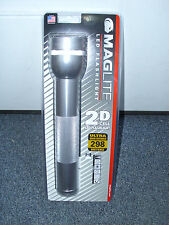 NEW Maglite Heavy-Duty LED 2-Cell D Aluminum Survival Flashlight Weapon - SILVER