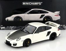 MINICHAMPS 2011 Porsche 911 GT2 RS White w/Black Wheels 1:18 *New Stock!