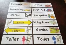 SIGNAGE - DEMENTIA CARE HOME - SPECIAL NEEDS - COMMUNICATION - VISUAL AID
