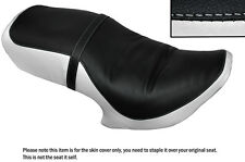 BLACK & WHITE CUSTOM FITS HYOSUNG 125 CRUISE 2 99-06 DUAL SEAT COVER