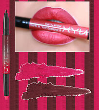 NYX OMBRE LIP DUO - BONNIE & CLYDE - RED LIPSTICK PLUM LIP LINER