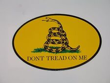 Wholesale Lot of 6 Round Dont Tread On Me Gadsden Decal Bumper Sticker