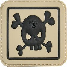 PVC Skull Patch Velcro Back Special Forces Badge Airsoft Tactical Morale