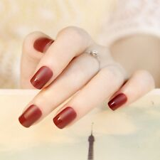24pcs Elegant Matte Short French Fake Nails faux ongle Natural Nail Art Tips