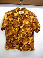 vtg Duke of Hollywood Waikiki Wear Hawaiian Shirt Aloha floral cotton XL 17-17.5