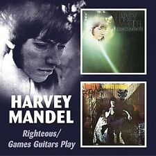 Righteous Games Guitars Play by Harvey Mandel CD Remaster 2 on 1 Bgo Canned Heat