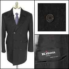 KITON 100% Cashmere Double Breasted Top Coat Jacket 52 42R 42L M L NWT Fall 2014
