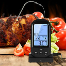New Wireless Remote LCD Thermometer For BBQ Grill Meat Kitchen Oven Food Cooking