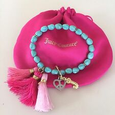 JUICY COUTURE AWESOME TURQUOISE Stretch bracelet. VERY RARE!! Exquisite. WOW!!