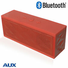 Wireless Bluetooth Portable Subwoofer Speaker For Samsung/iPhone/HTC Red