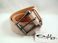 OAKLEY UNISEX  LEATHER BELT SIZE L WHITE RRP$79 NEW