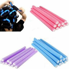 FOAM HAIR CURLERS 10pcs Maker Magic Bendy Air Hairrollers Twistee Flexi Rods*USA