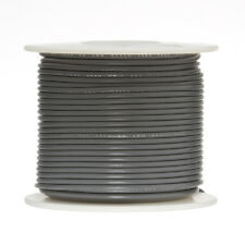 """24 AWG Gauge Stranded Hook Up Wire Gray 250 ft 0.0201"""" UL1007 300 Volts"""