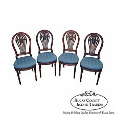 Custom Quality Set of 4 French Louis XVI Dining Chairs Founchot Ressa S.A.
