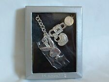 SILVER Plated CRYSTAL Romance CHARMS with LOVE From PLAYBOY Bunny
