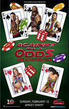 Official TNA Impact Wrestling 38 x 24 inch Against All Odds 2012 PPV Poster