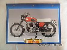 CARTE FICHE MOTO ARIEL FH CYCLONE   1959
