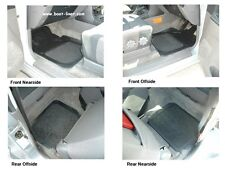 Mitsubishi Pajero/Shogun GLS rubber car floor mats with grey carpet inserts