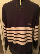 G-Star Industries Men's Sweater Knitwear Size XXL Dark Brown Zip Striped.
