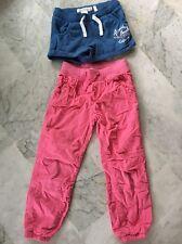 H&M- Lot Shirt Jersey Et Pantalon Treillis 5/6 Ans