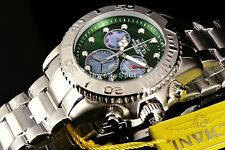 Invicta Men's Australian Diver Green Chrono Dial  PMOP Subs SS Bracelet Watch