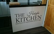 Custom kitchen wall decal LARGE  1000mmx415mm