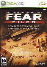 F.E.A.R. Files GAME Microsoft Xbox 360 FEAR