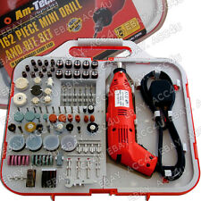 Am-Tech 162 Pcs Electric Mini Drill & Bit Sanding Discs Grinder Brush Wheels Set