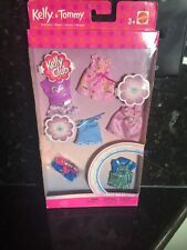 Lot Of BARBIE KELLY Tommy DOLL CLOTHING 5 OUTFITS 3 PAIR SHOES New