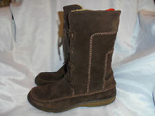 TIMBERLAND WOMEN'S BROWN LEATHER LACE UP BOOT SIZE UK 5.5 EU 38.5 US 8.5W VGC