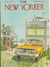JUNE 9 1973 NEW YORKER magazine cover - MOBILE HOME