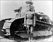 George Patton Photo Large 11X14 - 1918 WWI Tank Army General WWII