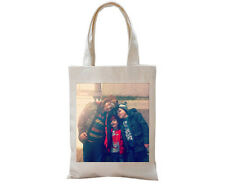 PERSONALISED CREAM TOTE CANVAS BAG SHOPPING ADD ANY IMAGE/PICTURE AND TEXT, LOGO