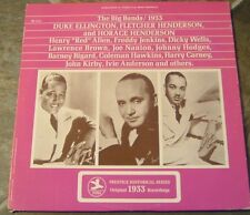 "Album By Duke Ellington & Fletcher Henderson, ""The Big Bands / 1933"" on Prestige"