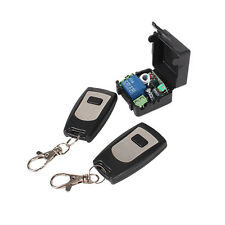 Mini RF Wireless fixed code Remote control & 1 Channel Receiver Momentary Switch