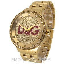 *NEW* DOLCE & GABBANA MENS D&G PRIME TIME GOLD WATCH - DW0377 - RRP £295