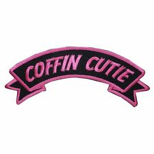 Coffin Cutie Name Tag Horror Dead Kreepsville Embroidered Iron On Applique Patch